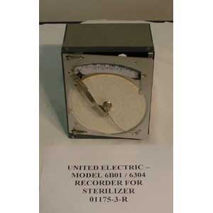 UNITED ELECTRIC Model: 6B01 / 6304 RECORDER FOR STERILIZER