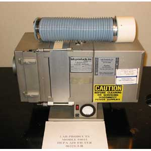 LAB PRODUCTS INC. Model: 59015 HEPA AIR FILTER SUPPLY