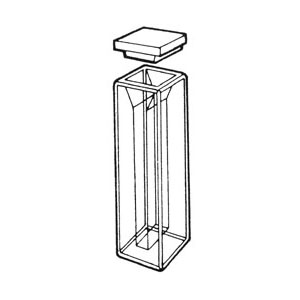 Perkin Elmer - Visible Glass 10mm light path - 3 Semi-Micro-cells