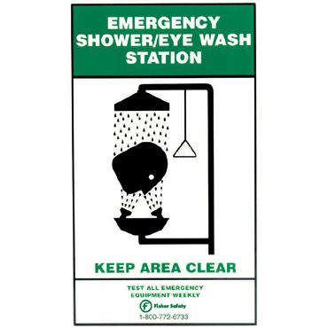 Fisher 18-747B Emergency Eyewash Sign