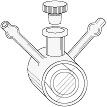 Opticell - water jacketed cylindrical cell - 10mm light path